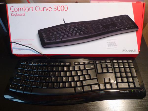 Microsoft comfort curve 3000 tastiera ergonomica