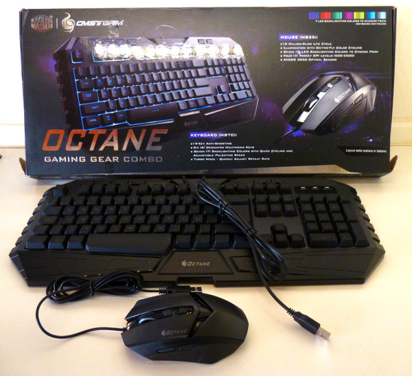 Coolermaster Storm Octane combo gaming