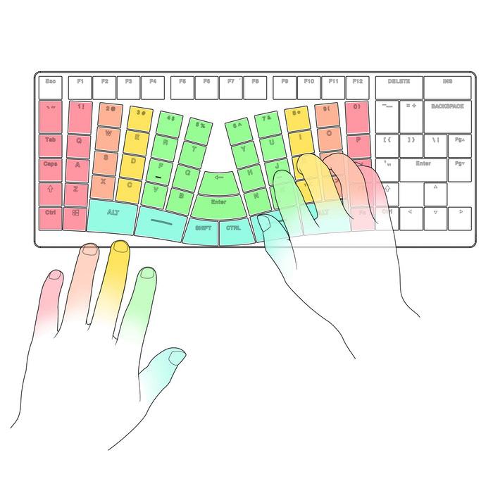 x-bows tastiera ergonomica meccanica retroilluminata